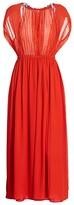 Saloni Snead A-Line Maxi Silk Georgette Dress