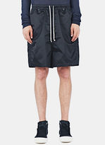 Rick Owens Men's Shiny Faun Shorts In Black