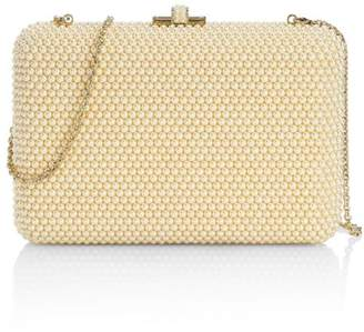 Judith Leiber Couture Pearly Slim Slide Beaded Clutch