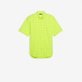 Balenciaga Allover Logo Short Sleeve Shirt