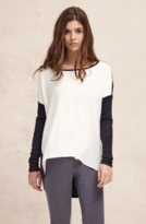 Charli Amber Top in Carbon, Chalk and Berry Color Block