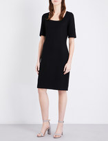 St. John Fine-knit wool-blend dress