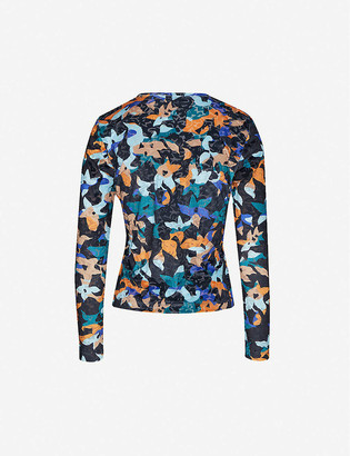 Stine Goya Maya abstract floral-print stretch-velour top