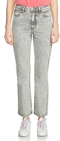 Maje Perla Cropped Bootcut Jeans in Gray