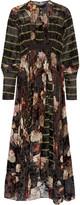 Preen by Thornton Bregazzi Audrey printed devoré silk-blend chiffon maxi dress