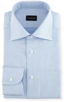 Ermenegildo Zegna Textured Solid Dress Shirt, Light Blue
