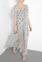 Floral Split Hem Maxi Gown