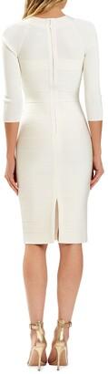Herve Leger Square-Neck Bandage Dress