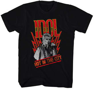 American Classics Tee Shirts BLACK - Black Billy Idol Hot in the City Tee - Adult