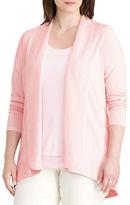 Lauren Ralph Lauren Plus Open-Front Jersey Cardigan