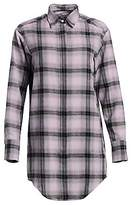 Each X Other Women's Flannel Check Graphic Blouse