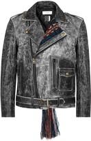 Facetasm Black Distressed Leather Jacket