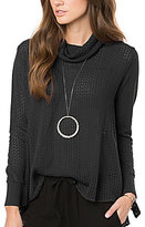 O'Neill Clemens Waffle Knit Turtleneck Top