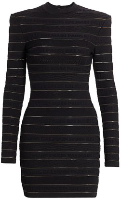 Balmain Logo Bandage Bodycon Dress