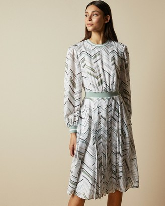 Ted Baker KATINO Everglade long sleeved midi dress