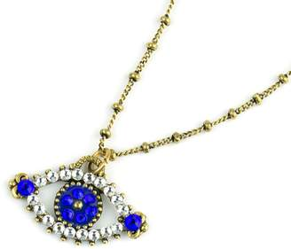 Swarovski Anne Koplik Crystal Evil Eye Necklace