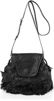 See by Chloé Black Fluffy Cherry Party Fringed Bag