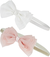 Monsoon 2x Baby Chiffon Layer Bow Bandos