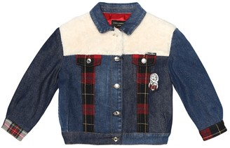 Dolce & Gabbana Kids Patchwork denim jacket