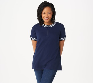 Denim & Co. Active French Terry Tunic with Rib Trim