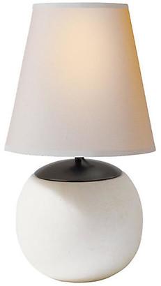 Thomas O'brien For Visual Comfort Terri Round Accent Lamp - Alabaster