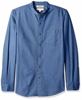 Goodthreads Men's Slim-fit Long-sleeve Band-collar Oxford Casual Shirt