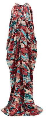 Halpern Halterneck Sequinned Gown - Multi