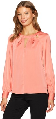 Trina Turk Women's Maritsa Essential Silk Cutout Top
