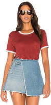 Wilt Easy Color Contrast Garment Dye Tee in Burgundy. - size L (also in M,S,XS)