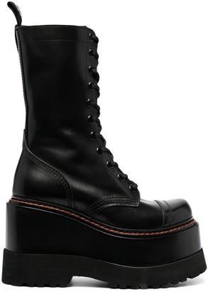 R 13 Platform-Sole Boots