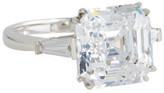 FANTASIA 14k White Gold Asscher Cubic Zirconia Ring