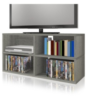 Way Basics Eco Friendly 4 Cubby Tv Stand