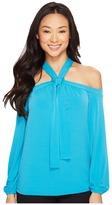MICHAEL Michael Kors Cold Shoulder Halter Top Women's Clothing