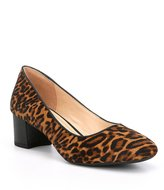 Alex Marie Baileightwo Leopard Print Calf Hair Pumps