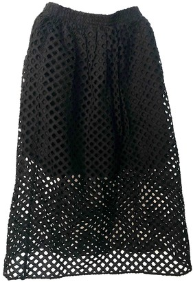 Carven Black Cotton Skirt for Women