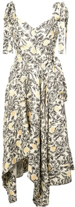 Proenza Schouler Cami Dress with Asymmetrical Hem