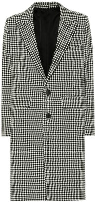 Ami Houndstooth wool-blend coat