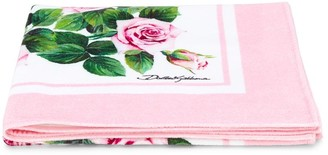 Dolce & Gabbana Kids Rose Print Towel