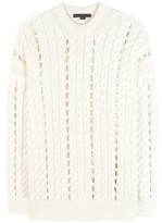 Alexander Wang Cable-knit Cotton Sweater