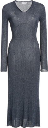 Lanvin Knitted Lurex Midi Dress