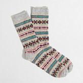 J.Crew Factory Fair Isle holiday socks