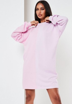 Missguided Colourblock Oversized Sweater Dress