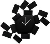 Alessi La Stanza Dello Scirocco Wall Clock - Large - Black