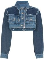 Off-White Cropped denim jacket with zip