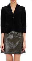 MM6 MAISON MARGIELA Women's Velvet Shrunken Blazer-BLACK