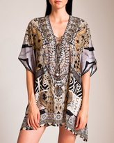 Camilla Weave of the Wild Short Lace-Up Kaftan