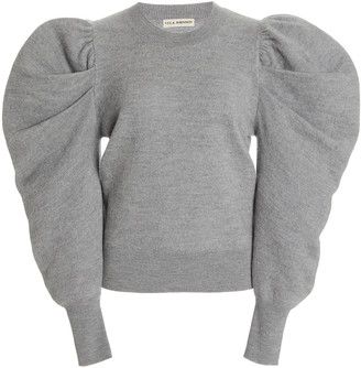 Ulla Johnson Marin Puffed-Sleeve Wool Sweater