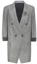 Brunello Cucinelli Embellished Cotton And Linen Blazer