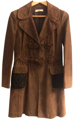 Prada Brown Suede Coats