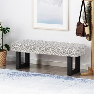 Bungalow Rose Wynsum Upholstered Bench Color/Pattern: Gray/Ikat